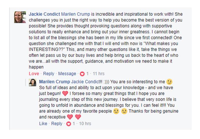 Testimonial Jackie Condict